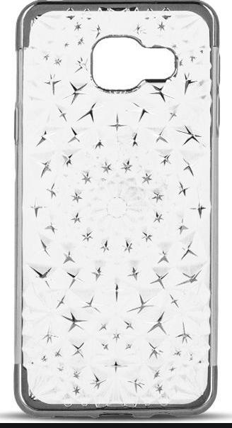 Silikonové puzdro 3D Stars TPU pre Samsung A5 2016 strieborné