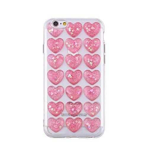 3D valentínske silikónové puzdro Heart 1 pre Apple iPhone 5/5s/SE ružové