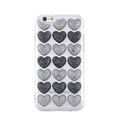 3D valentínske silikónové puzdro Heart 2 pre Apple iPhone 7/8 sivé