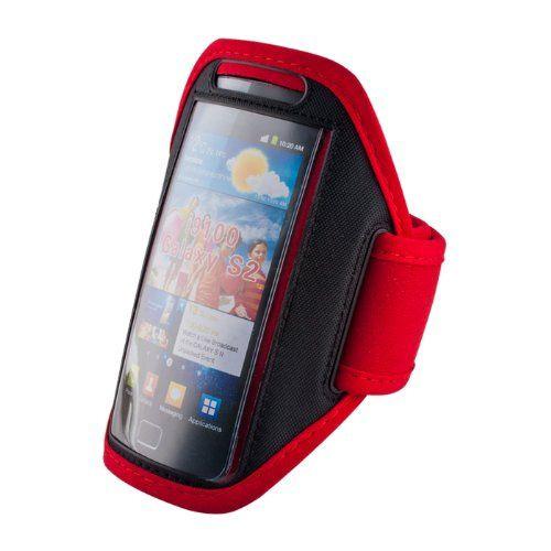 Puzdro na rameno Premium pre Samsung Galaxy S2 I9100/Apple iPhone 5/5s/SE červené 326