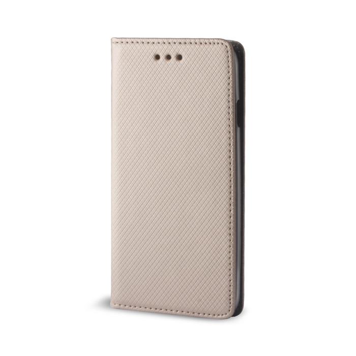 Diárové puzdro Smart Magnet pre Samsung Galaxy S6 Egde zlaté