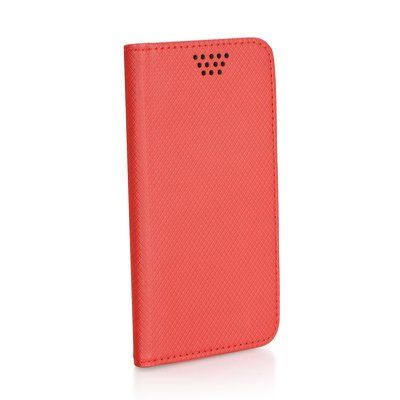 """Univerzálne puzdro Leather Smart veľkosť 4,0-4,5 """" červené"""