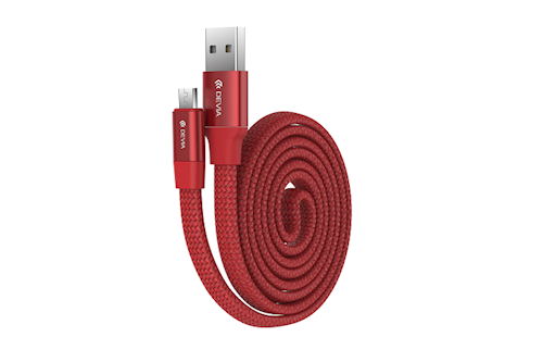 Micro USB kábel DEVIA Ring Y1 červený