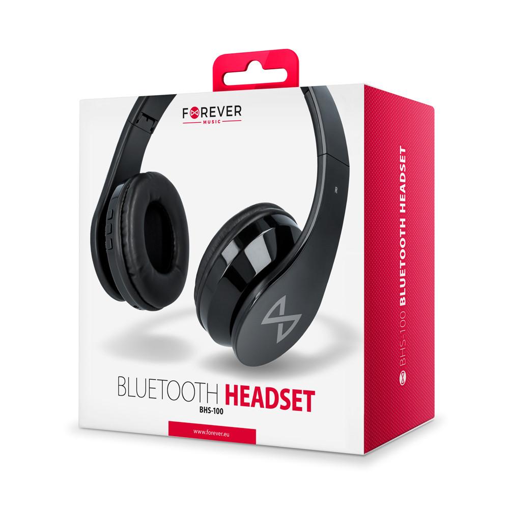 Bluetooth slúchadlá Forever BHS-100 čierne