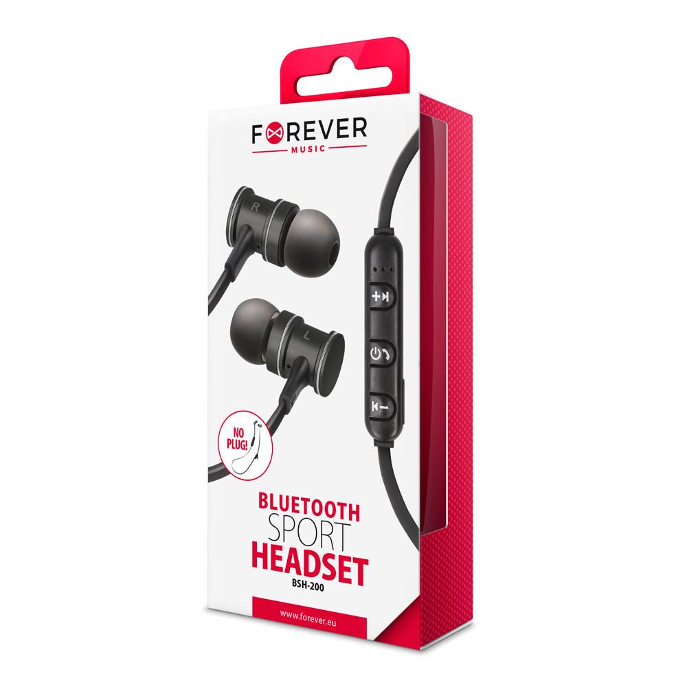 Bluetooth slúchadlá Forever BSH-200 čierne