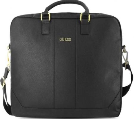 GUCB15TBK Guess Saffiano Look Computer Bag 15 Black