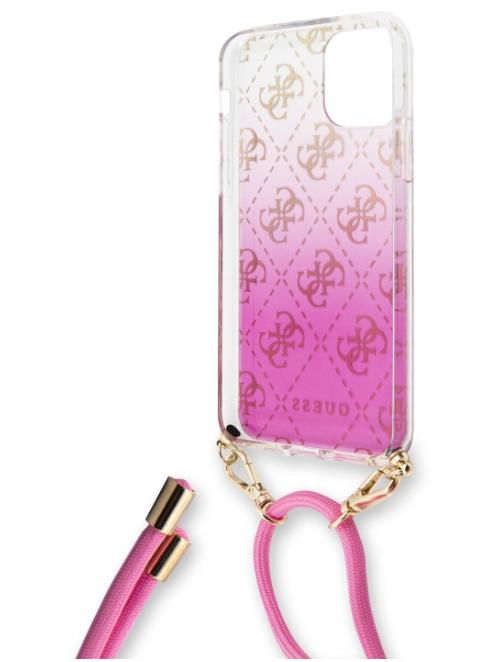 GUHCN61WO4GPI Guess 4G Gradient Zadní Kryt pro iPhone 11R Pink (EU Blister)