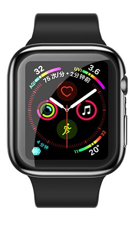 USAMS BH486 TPU Full Protective Pouzdro pro Apple Watch 44mm Transparent (EU Blister)