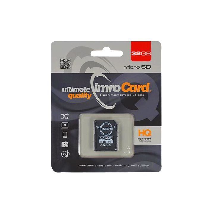 Pamäťová karta Micro SD 32GB Class10 s adaptérom UHS-I IMRO