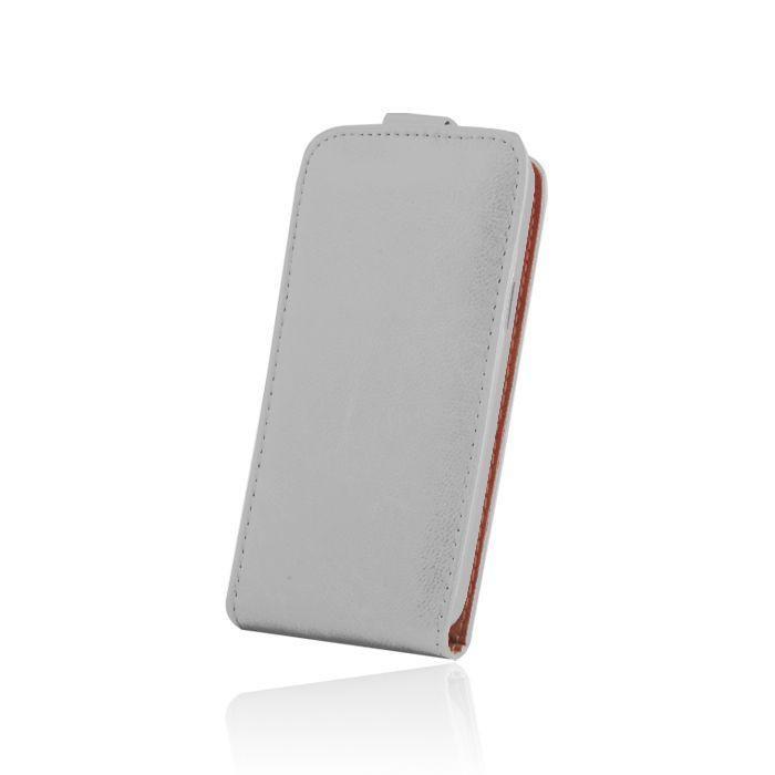 Kožené diárové puzdro PLUS New pre Huawei P9 Lite biele