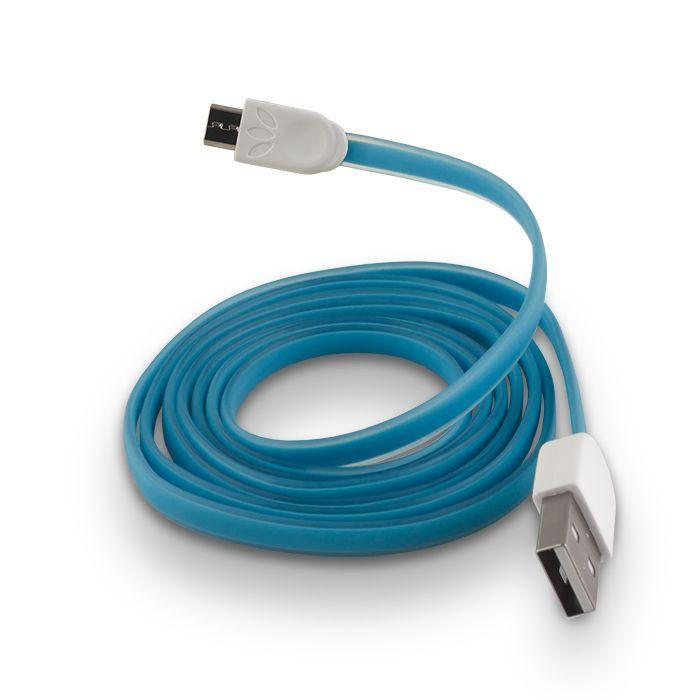 FOREVER micro USB kábel modrý silikónový plochý