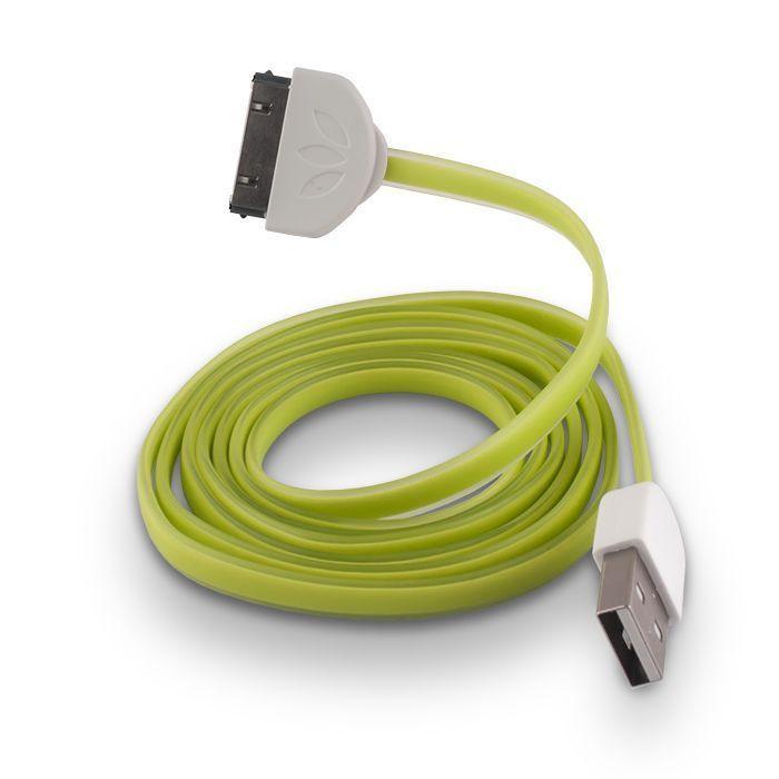 USB kábel Forever pre iPhone 3/4 lightning zelený