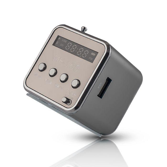 Radio reproduktor MF-100 strieborný
