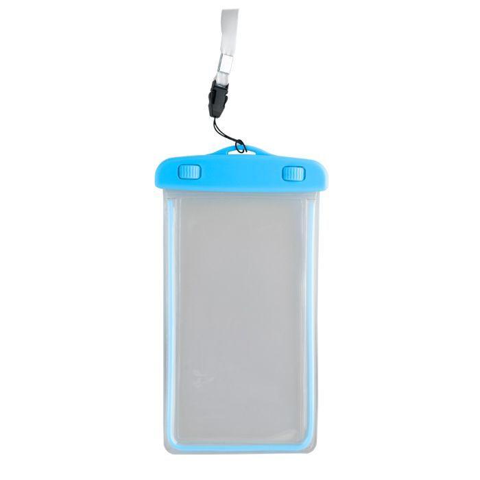 """Vodeodolné puzdro Glow so šnúrkou 4,8 - 5,8"""" 175x105 mm modré"""