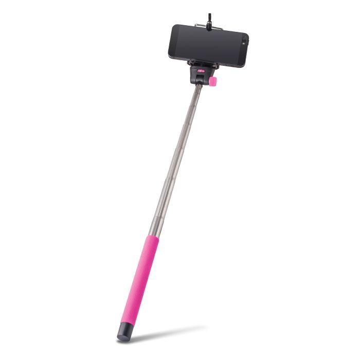 Selfie tyč FOREVER MP-300 ružová