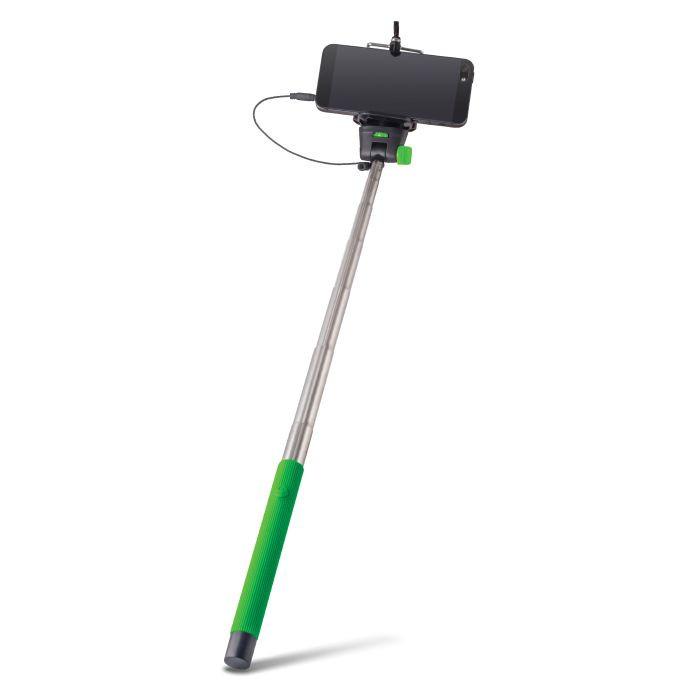 Selfie tyč FOREVER s audio káblom MP-400 zelená