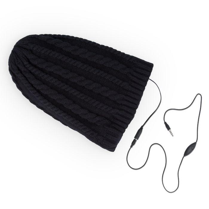 Zimná čiapka so slúchadlami čierna