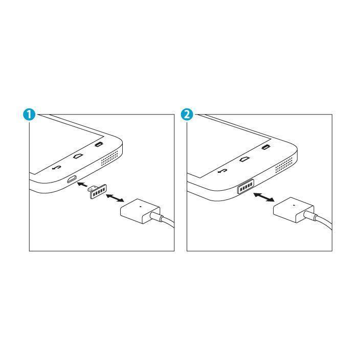 Magnetický micro USB kábel FOREVER biely