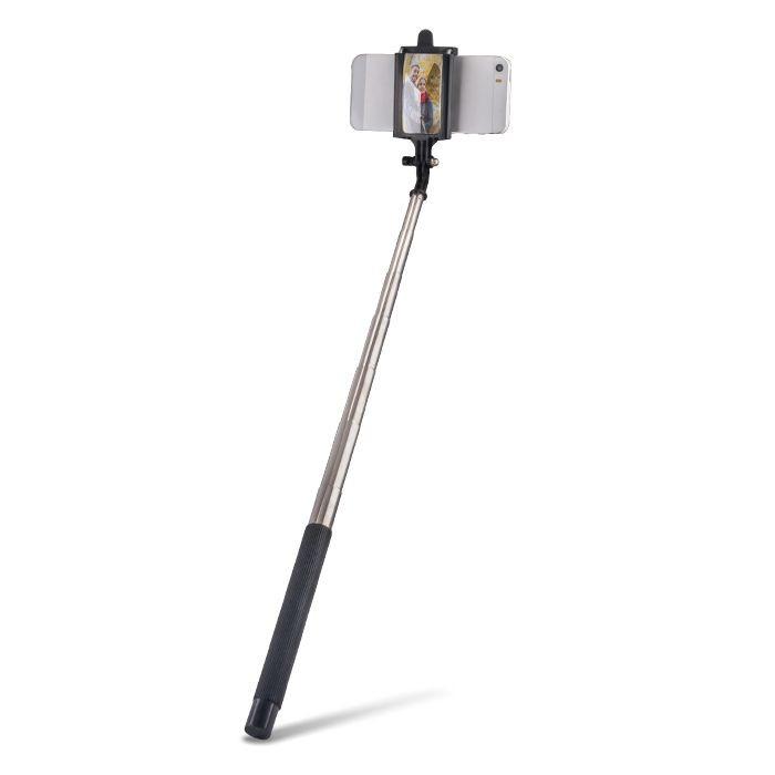 Selfie tyč FOREVER so zrkadlom MP-310 čierna