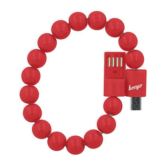 Micro USB kábel Beeyo náramok červený