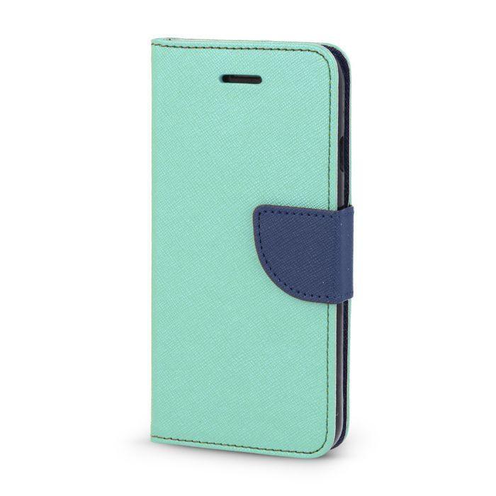 Diárové puzdro Smart Fancy pre LG K8 K350N mentolové/tmavomodré