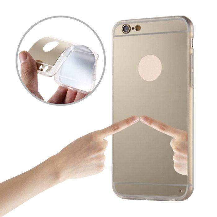Zrkadlové silikónové puzdro TPU pre Samsung Galaxy S7 zlaté
