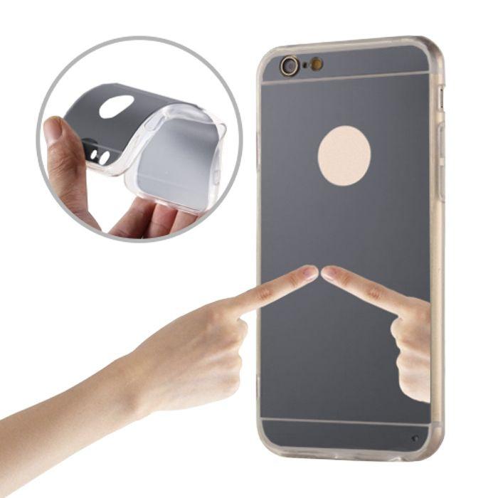 Zrkadlové silikónové puzdro TPU pre Samsung Galaxy A5 tmavosivé