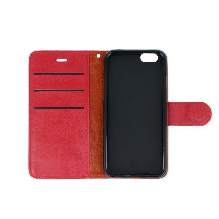 Diárové puzdro  2v1 pre Apple iPhone 5/5s/SE červené