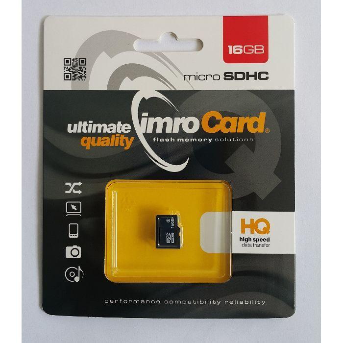 Pamäťová karta Micro SDHC Imro 16 GB bez adaptéra