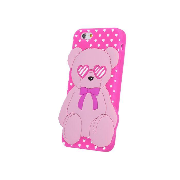 Silikónové puzdro 3D Love Bear pre Samsung Galaxy A3 2016 A310 ružové