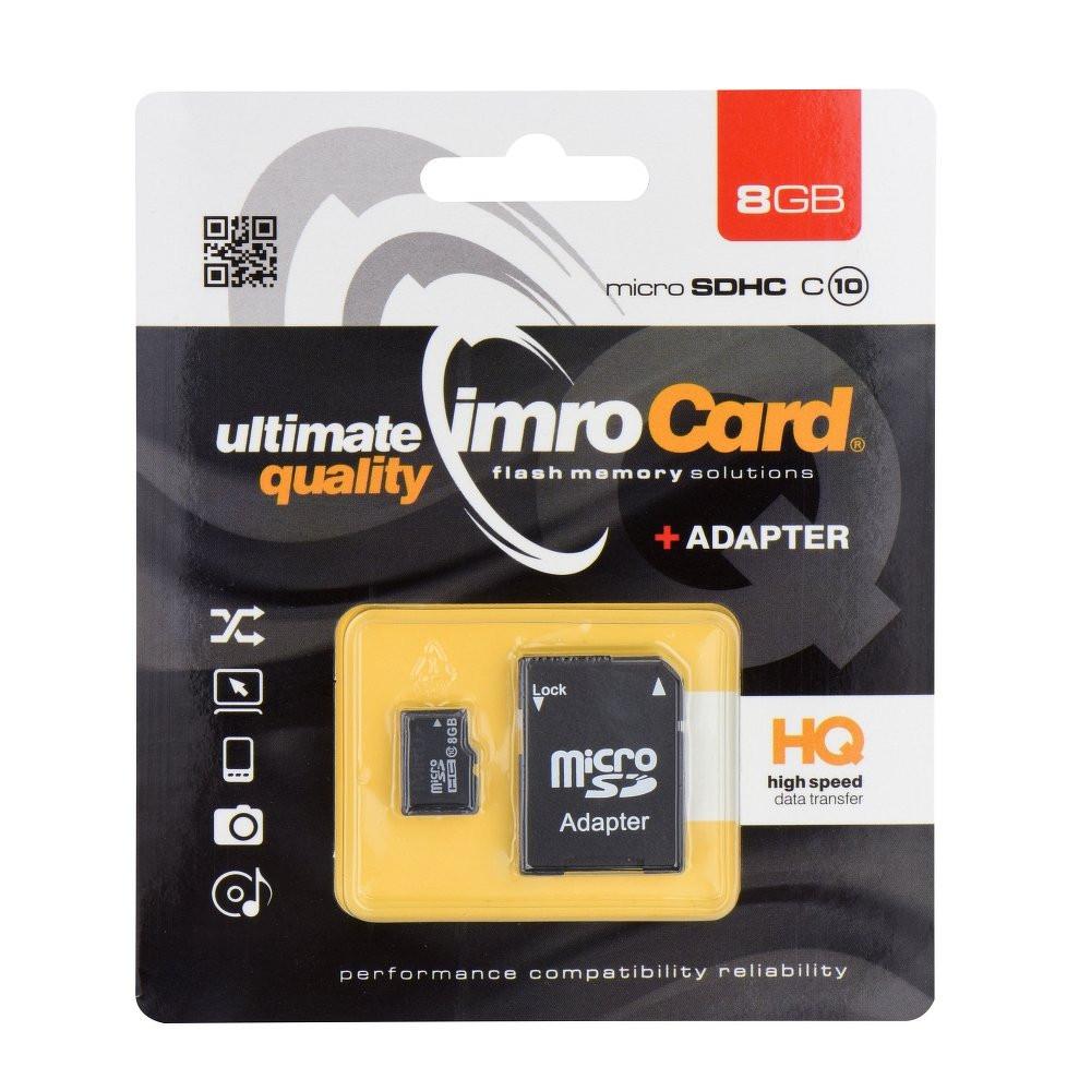 Pamäťová karta Imro microSD (TransFlash) 8 GB s adaptérom CLASS
