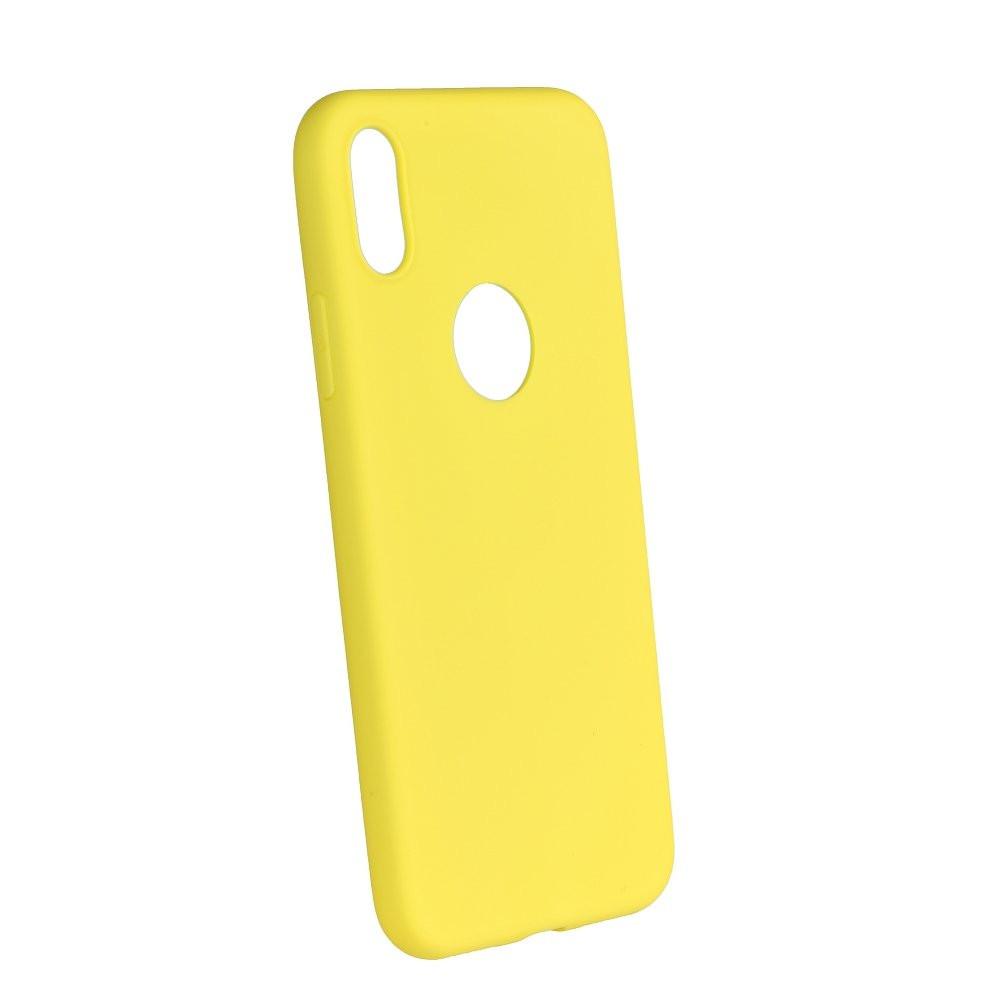 Silikónové puzdro Forcell Soft pre Apple iPhone X XS žlté 998ee6a6a40