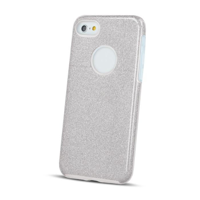 Silikónové puzdro Glitter 3v1 pre Apple iPhone 5/5s strieborné
