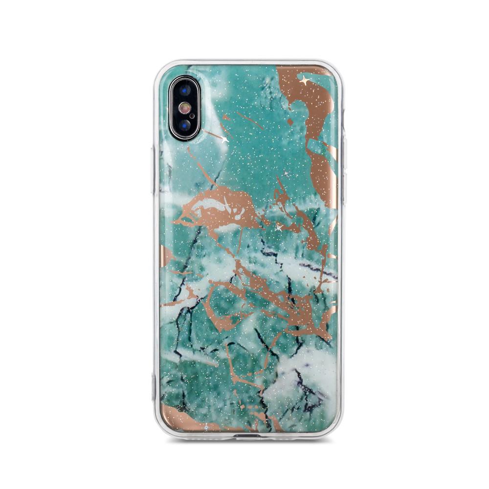 Silikónové puzdro Marmur pre Samsung Galaxy J6 Plus 2018 zelené
