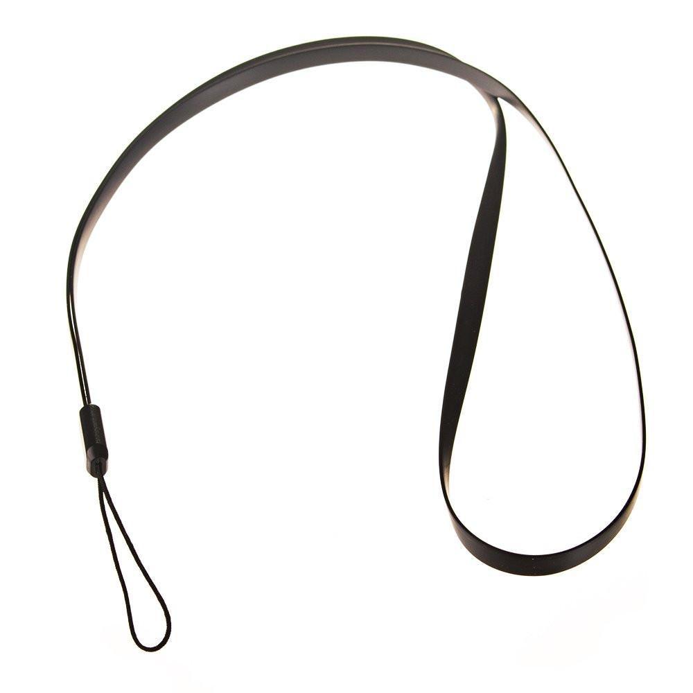 Silikónová šnúrka na mobil čierna