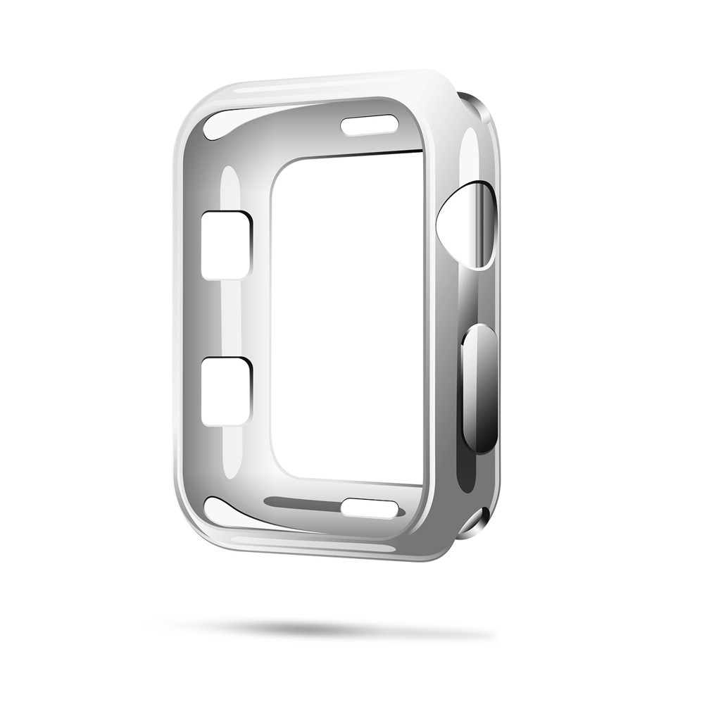 Silikónové puzdro Dux Ducis pre Apple Watch 2/3 38 mm strieborné