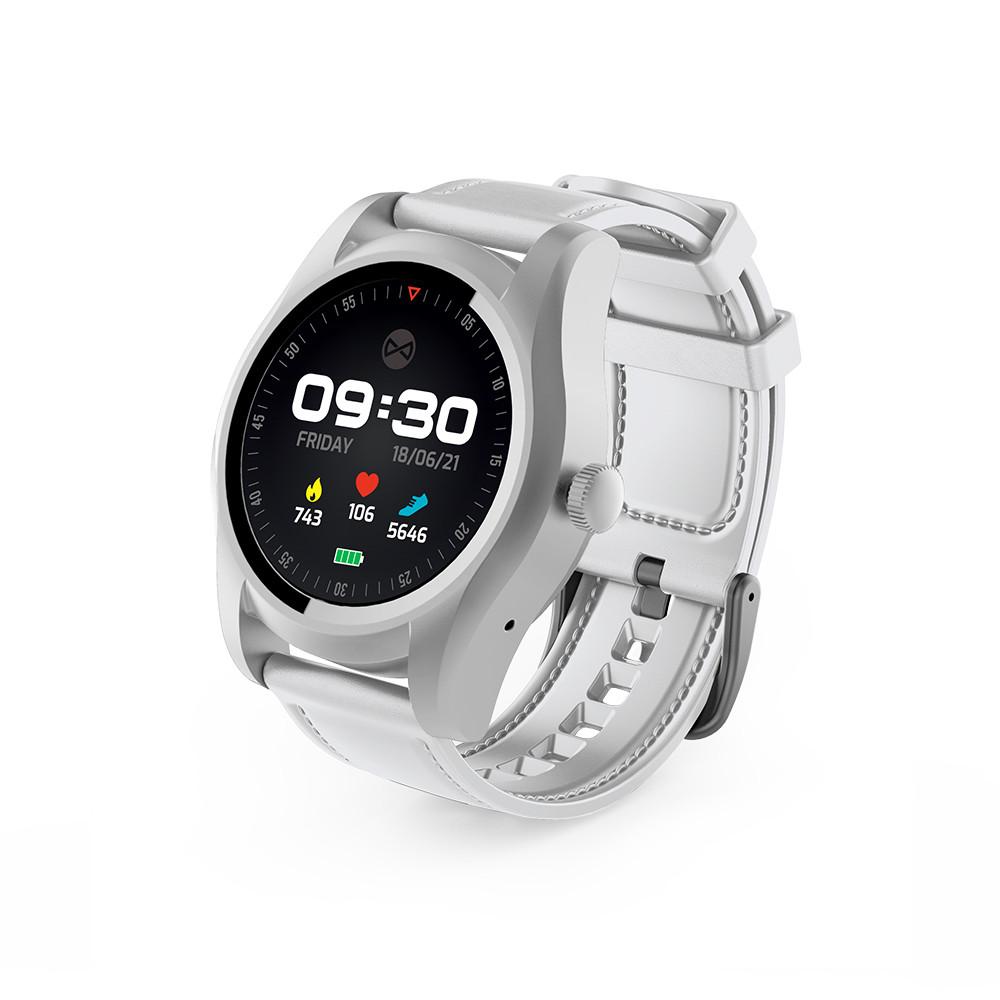 Smart hodinky Forever SIM SW-200 strieborno- biele