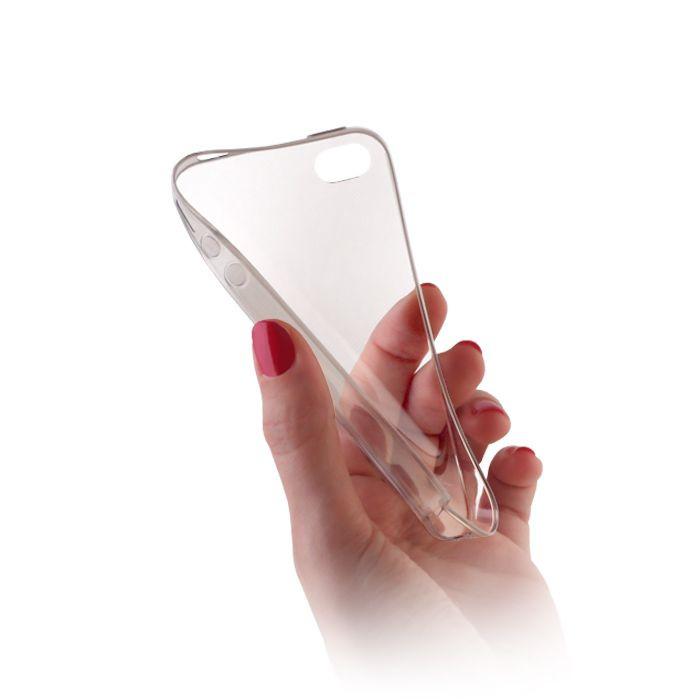 Silikónové puzdro Ultra Slim 0,3 mm pre Apple iPhone 5/5s/SE transparentné