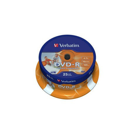 DVD-R Verbatim 4,7GB 16x 25ks v cake obale