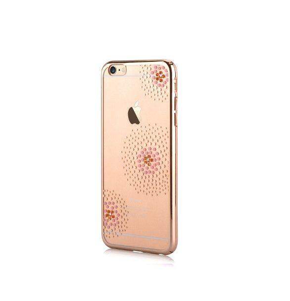Silikónové puzdro Beeyo Flower Dots pre Apple iPhone 6/6s zlaté