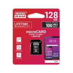 Pamäťová karta 128 GB microSD GOODRAM Class 10 UHS I + adapter