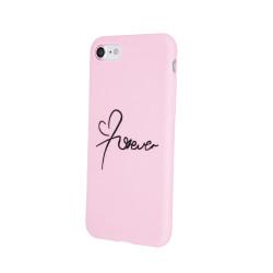 Silikónové puzdro Forever Love pre Xiaomi Redmi 7A ružové