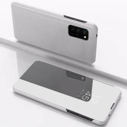 Diárové puzdro Smart Clear View pre Huawei P Smart 2019/Huawei Honor 10 Lite strieborné