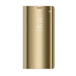 Diárové puzdro Smart Clear View pre Huawei P Smart 2019/Huawei Honor 10 Lite zlaté