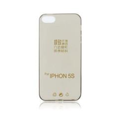 Silikonové puzdro Back Ultra Slim 0,3mm pre Apple iPhone 5/5s/SE čierne