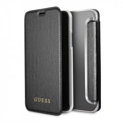 GUFLBKPXIGLTBK Guess Iridescent Book Pouzdro Black pro iPhone X / XS
