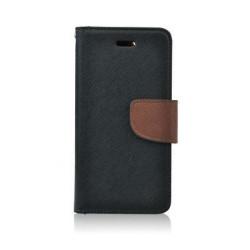 Diarové puzdro Fancy pre Samsung Galaxy S7 čierno hnedé