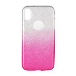 Silikonové puzdro Forcell SHINING pre Apple iPhone  X/XS ružové