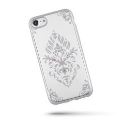 Silikonové puzdro Beeyo Floral pre  Huawei  P8 Lite strieborné