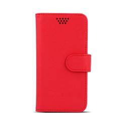 "Diárové puzdro Smart Universal Rotating case 4,5-5"" červené"